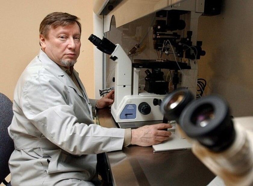 Researcher Yury Verlinsky, who immigrated to the United States from Russia, was the first in the U.S. to perform chorionic villus sampling to detect birth defects.