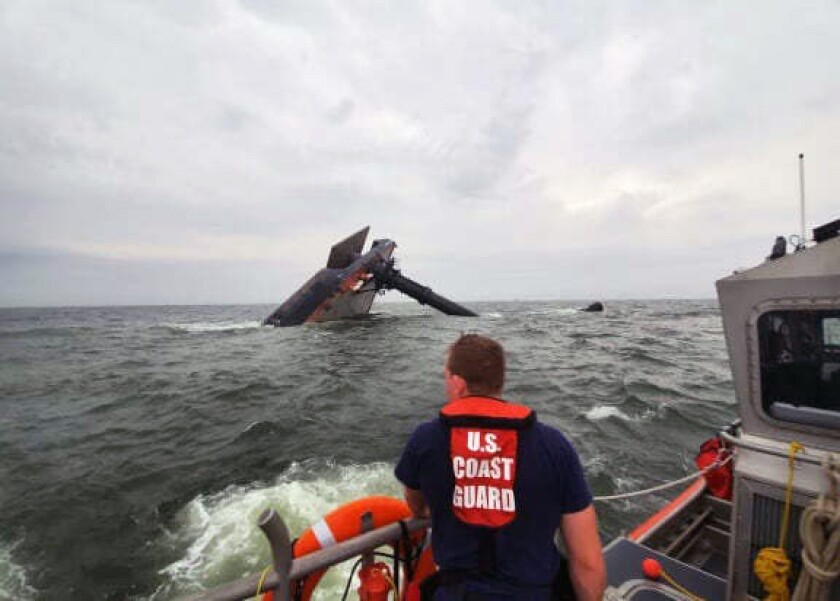 A Coast Guard cutter crew member