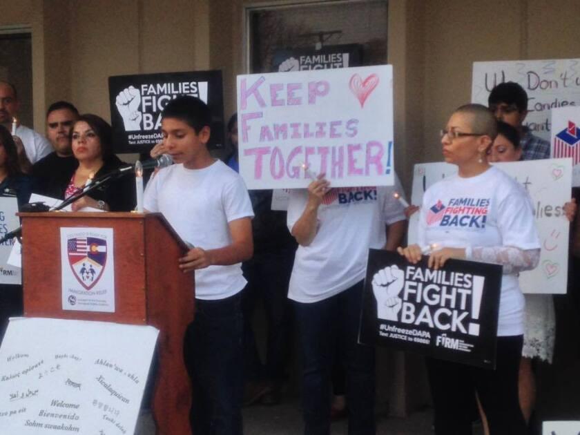"""""""Tengo 12 años, pero eso no me detiene para seguir peleando por una reforma migratoria para mis padres"""", dijo una pequeña activista. Foto de las redes sociales de CIRC."""