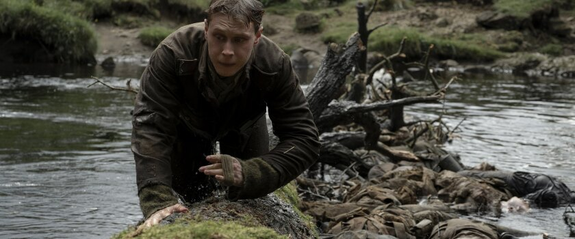 "George MacKay in the movie ""1917."""
