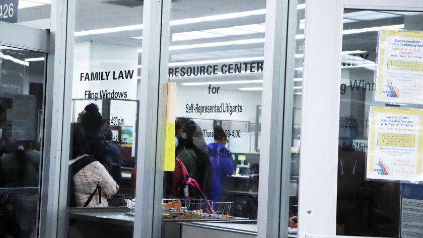 The Self-Help Resource Center at the Stanley Mosk Courthouse. More and more people are representing