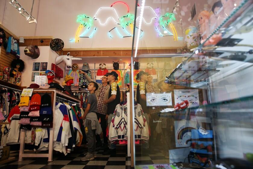 Shopping Popkiller Second in Little Tokyo.