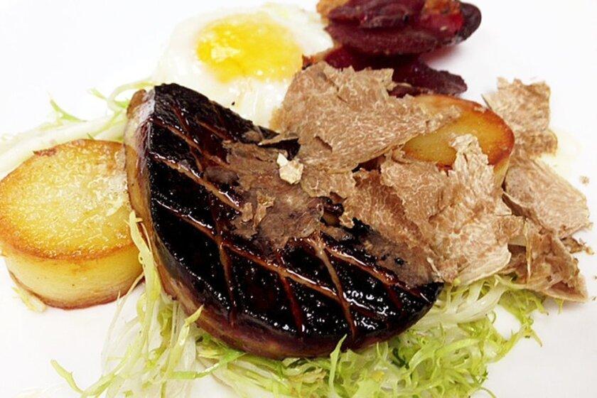 Chef Meredith Manee's Foie & Truffle Homage to Breakfast at 1500 Ocean.