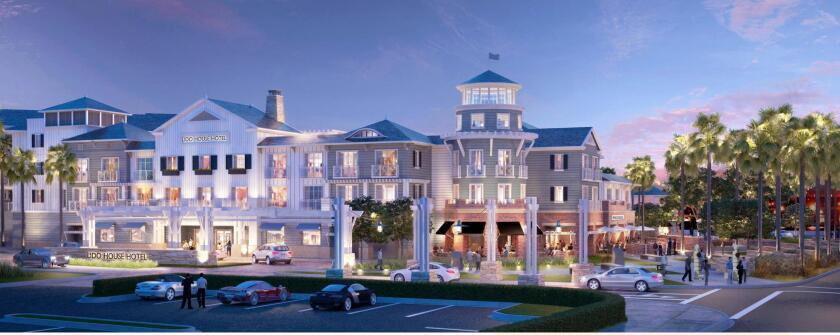 Lido House Hotel rendering