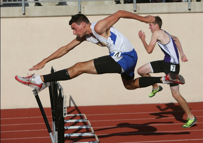 San Pasqual's Ben Hartinger is among the San Diego Section leaders in the 110-meter high hurdles.
