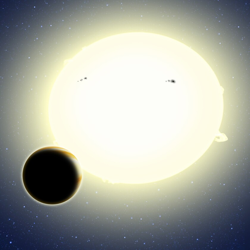"""""""Einstein's Planet"""" transits its star"""
