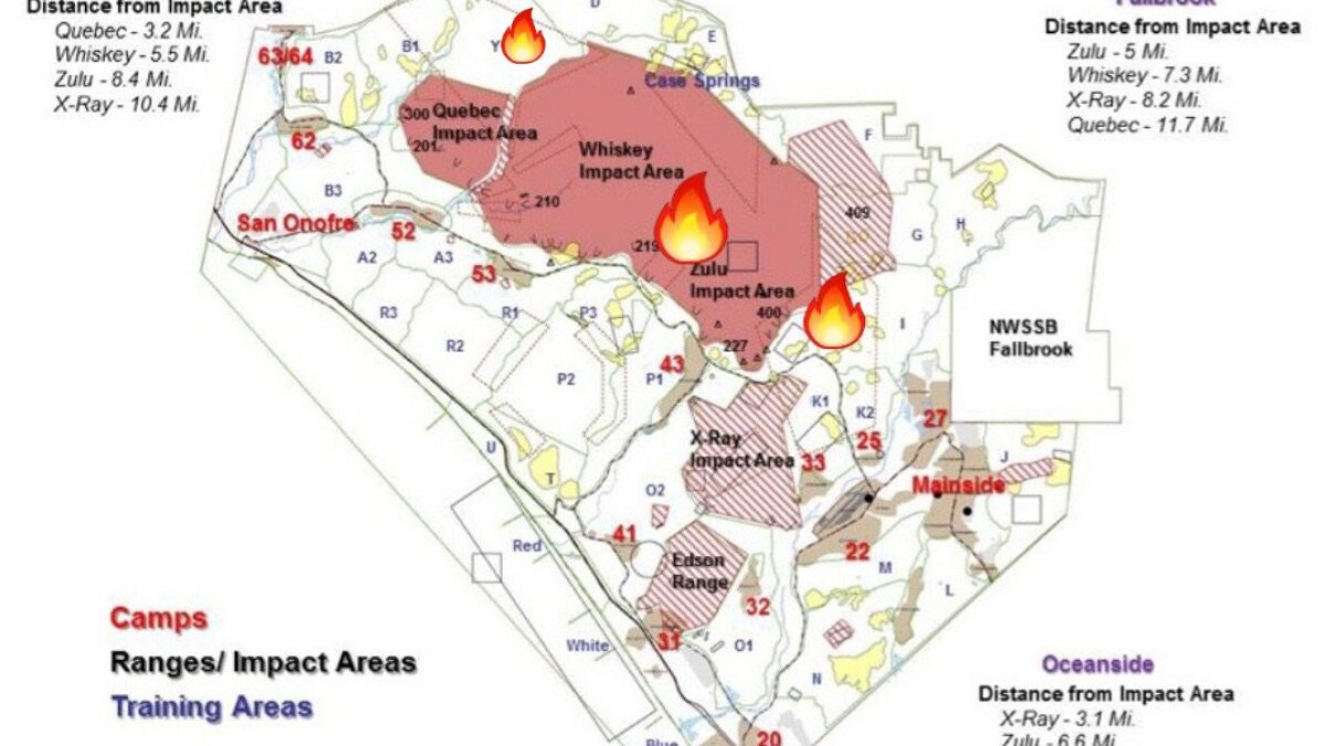 Trio Of Fires Burn More Than 8 500 Acres On Camp Pendleton The