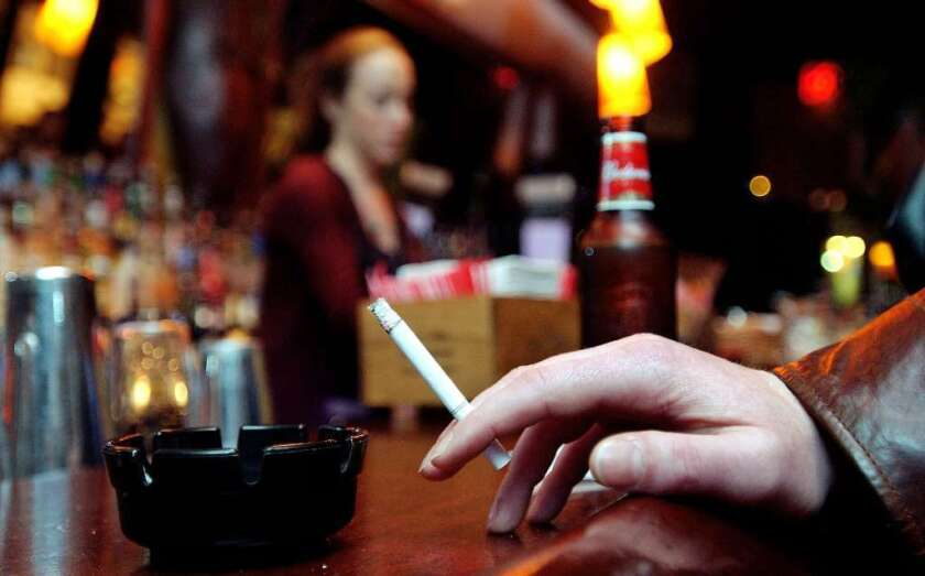 Nicotine -- the main addictive ingredient in tobacco -- appears to prime the desire to drink alcohol, and to drink more alcohol, a study finds. But, it takes stress hormones to seal the deal.
