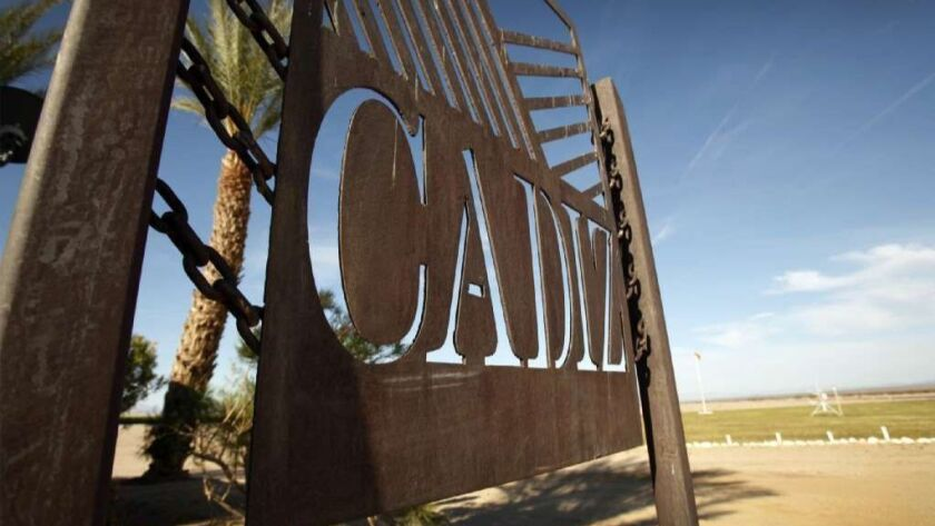 A federal judge's ruling is a blow to Cadiz Inc.'s decades-long effort to pump desert groundwater and sell it to urban Southern California.
