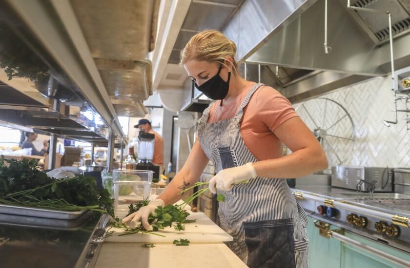 Sara Harris, executive chef of Herb & Sea restaurant in Encinitas