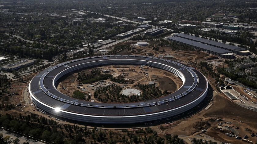 Cupertino-based Apple has about a dozen engineers from the aerospace, satellite and antenna-design industries working on satellite technology.