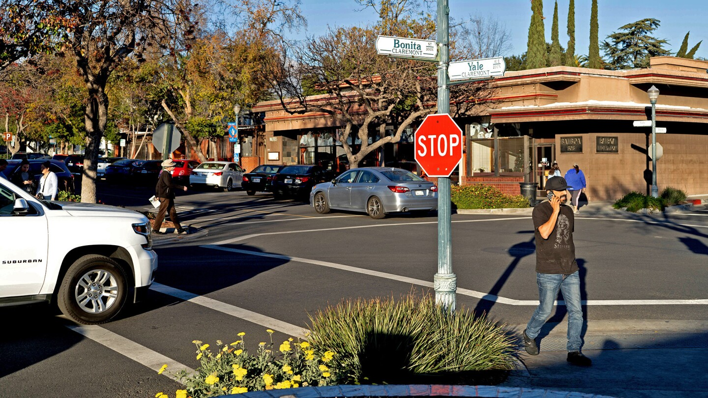 The Village, Claremont's downtown district, includes cafes, boutiques and galleries.