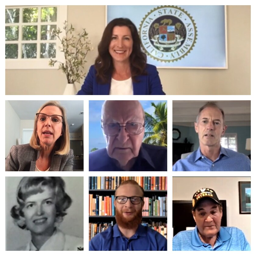 """California 74th Assembly District's """"2020 Veterans of the Year"""""""