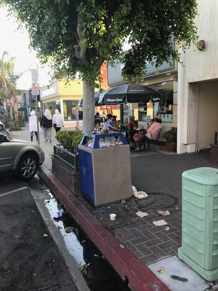 A scene from the Village of La Jolla, Aug. 2, 2018