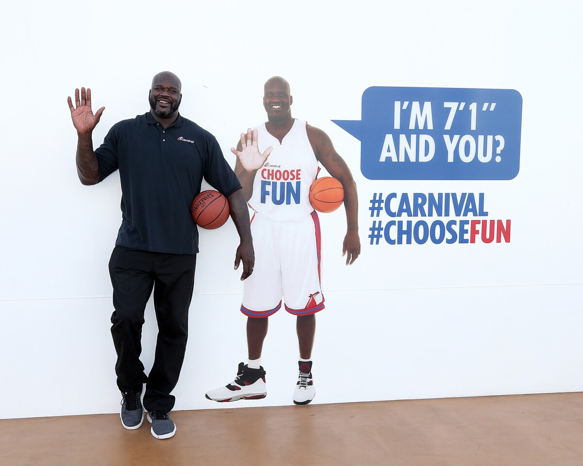 Shaquille O'Neal on Carnival Horizon