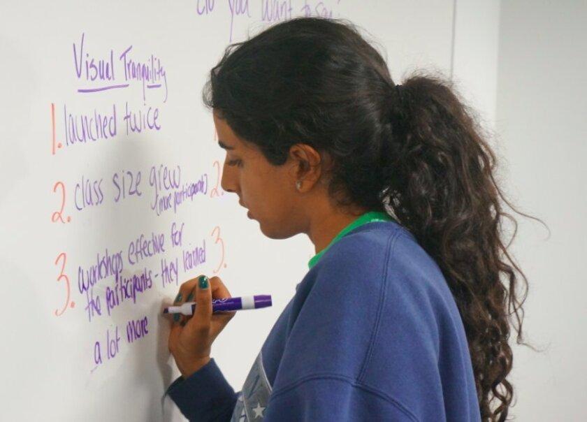 Natasha Tayebi during a previous WIT class. Courtesy photo