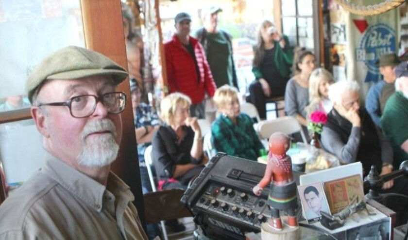 Dennis Wills hosts his 40th and last St. Patrick's Day reading of Irish Poetry and Prose at D.G. Wills Bookstore in March. The event had been drawing standing-room only crowds for decades.