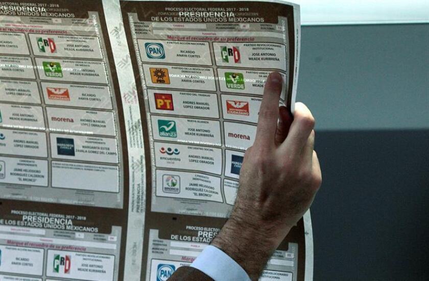 Vista de las boletas electorales que serán usadas el día 1 de julio para elegir al próximo presidente de México. EFE/Archivo