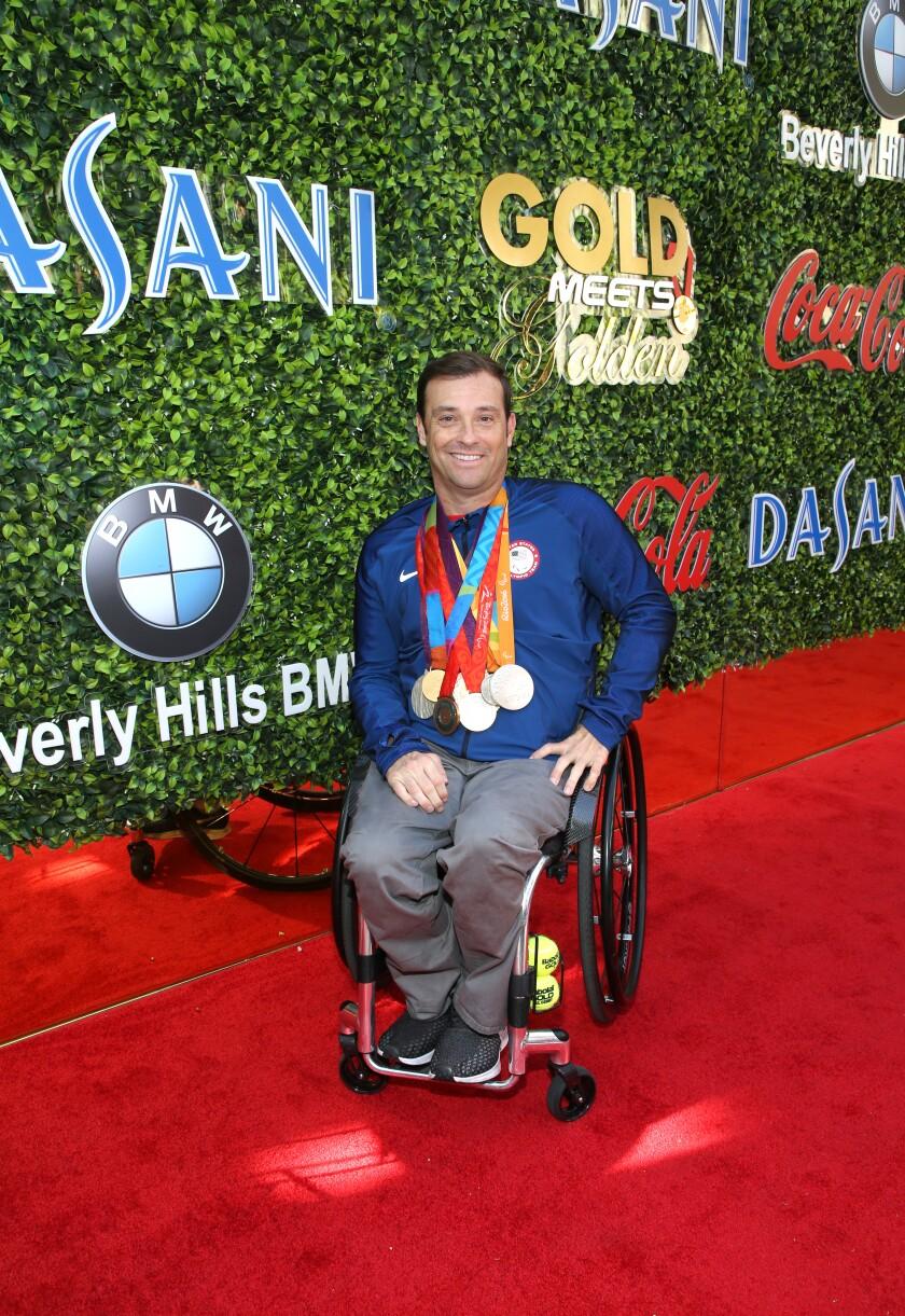 David Wagner, a wheelchair tennis player, attends Saturday's brunch.