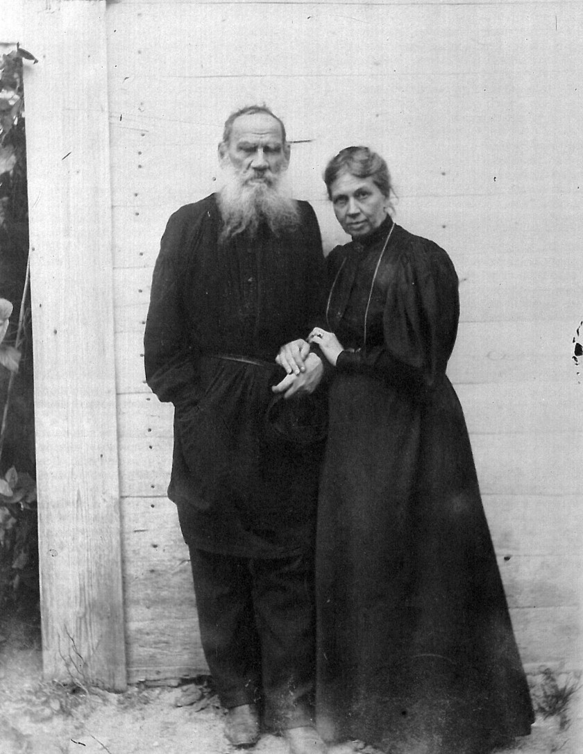 Leo Tolstoy and his wife, Sonya, in 1895.