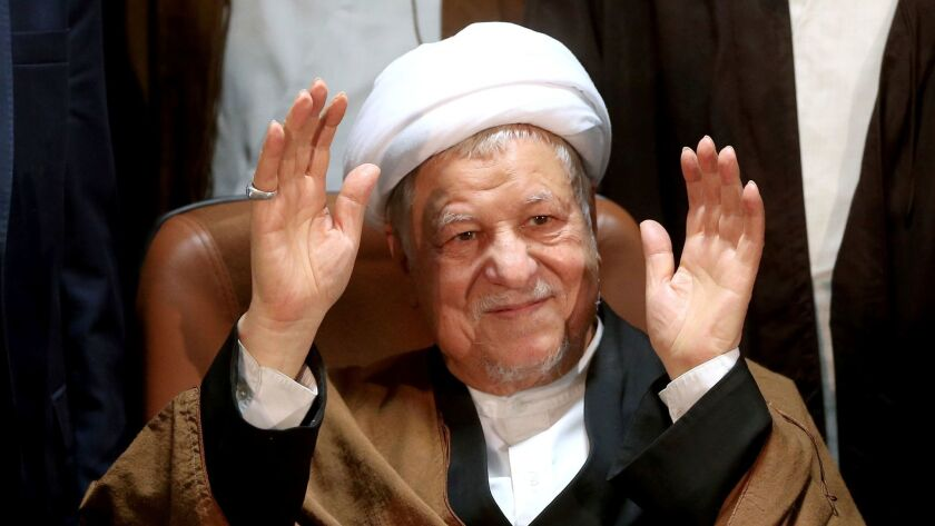 Former Iranian President Ali Akbar Hashemi Rafsanjani, shown in December 2015, was a powerful ally of moderate and reformist forces.