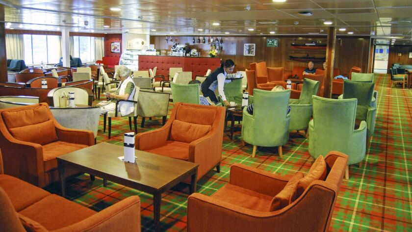 United Kingdom - Black Watch ship - Bookmark Café. The coffee is excellent, the candy selection exte