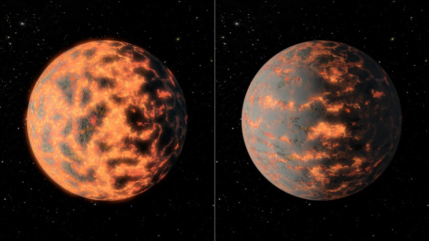 A super-hot super-Earth spotted 40 light-years away