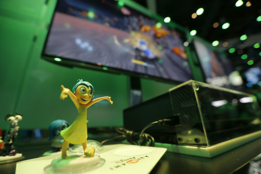 """The character Joy from the Disney movie """"Inside Out"""" is a playable toy/character in """"Disney Infinity 3.0."""""""