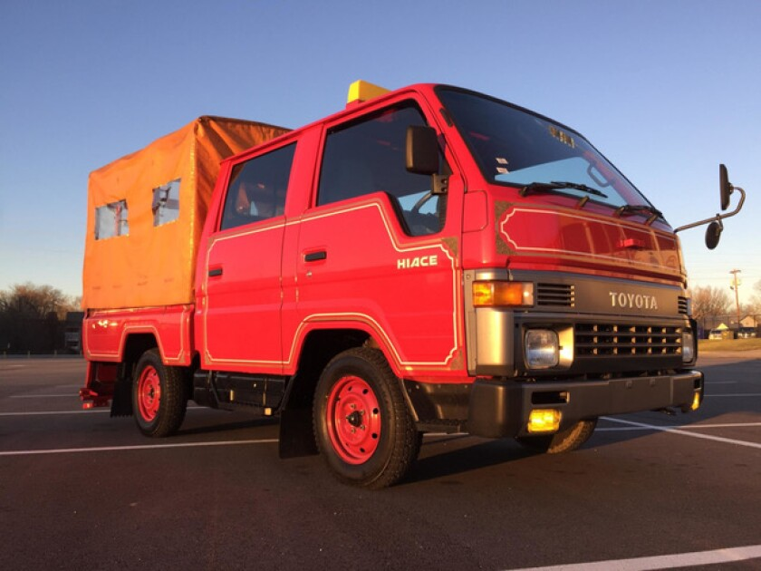 Singer's Toyota HiAce will be featured in the first meeting of the Rancho Santa Fe Fire Brigade.