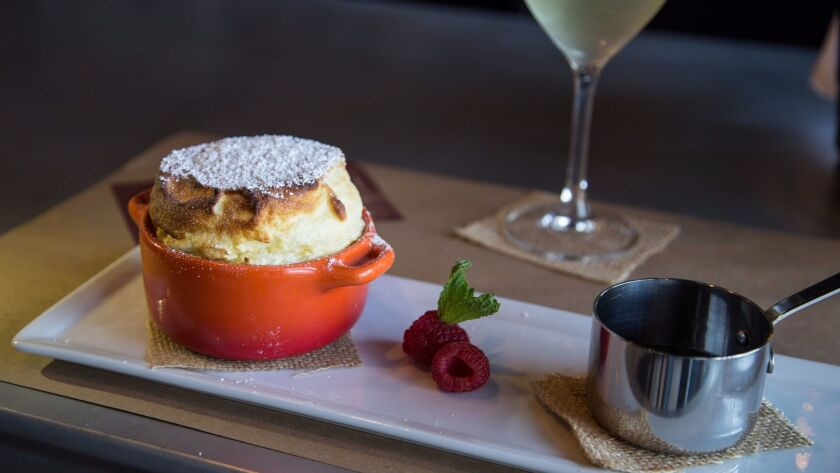 There's a different soufflé served each night at Et Voilà, with the exception of chocolate. Chocolat