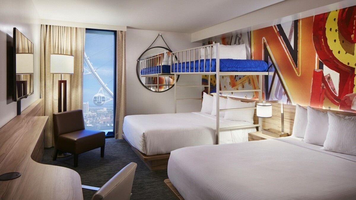 Cheapest Las Vegas Sleepover Party Bunk Bed Rooms At The Linq Los Angeles Times