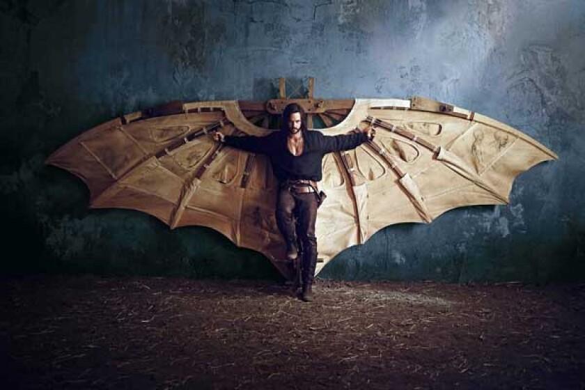 """Tom Riley as Leonardo Da Vinci in """"Da Vinci's Demons"""" on Starz."""