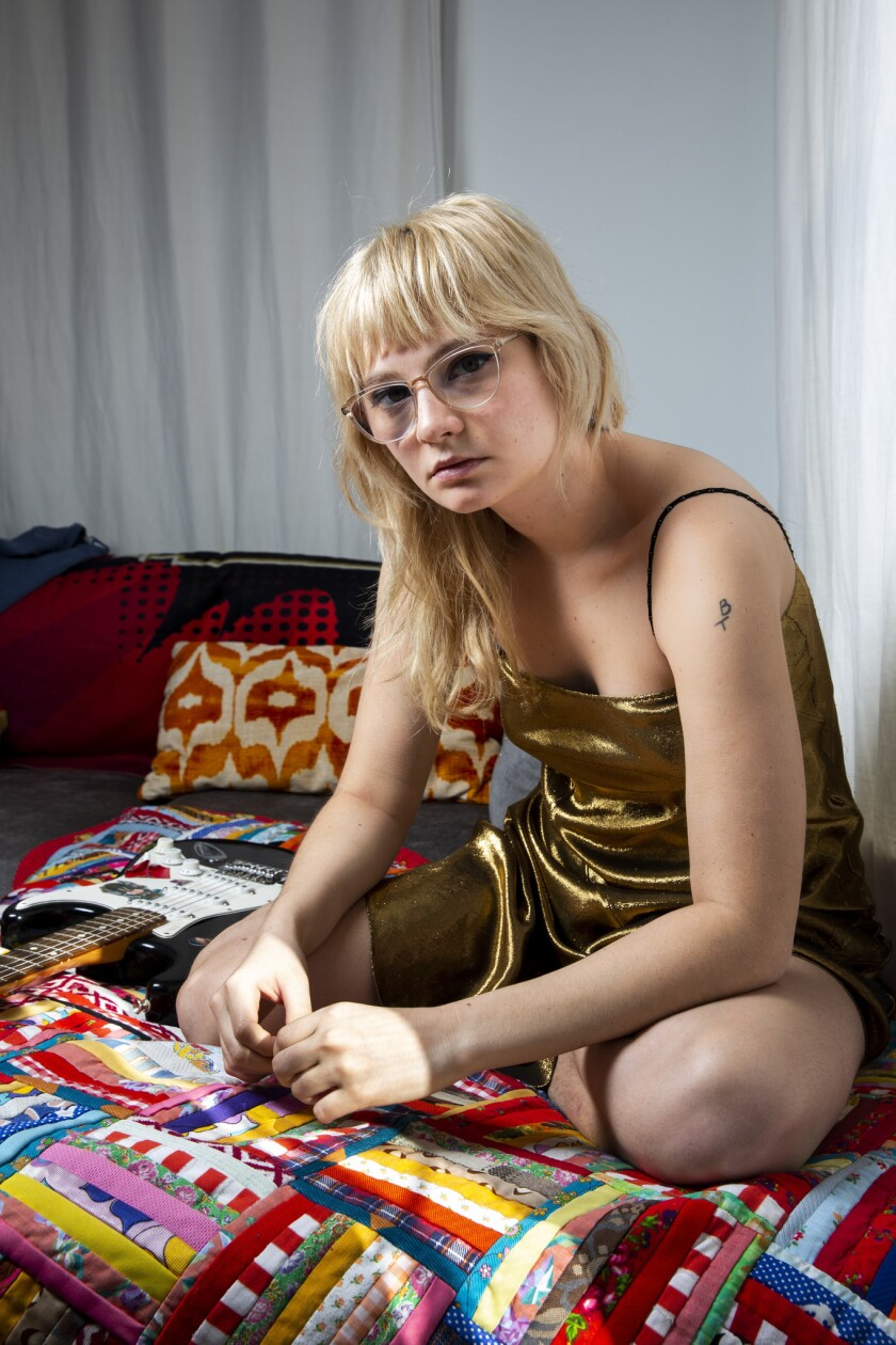 LOS ANGELES, CALIF. - JANUARY 03: American rock band Cherry Glazerr guitarist and lead vocalist Clem