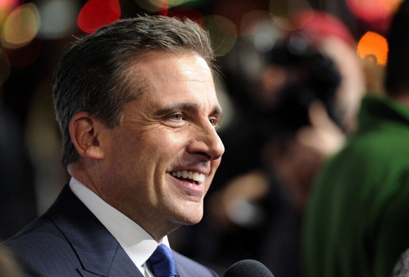 """Steve Carell, star of """"Foxcatcher,"""" photographed on closing night at AFI Fest 2014 on Nov. 13 in Hollywood. The actor will be honored early next year at the Santa Barbara International Film Festival."""