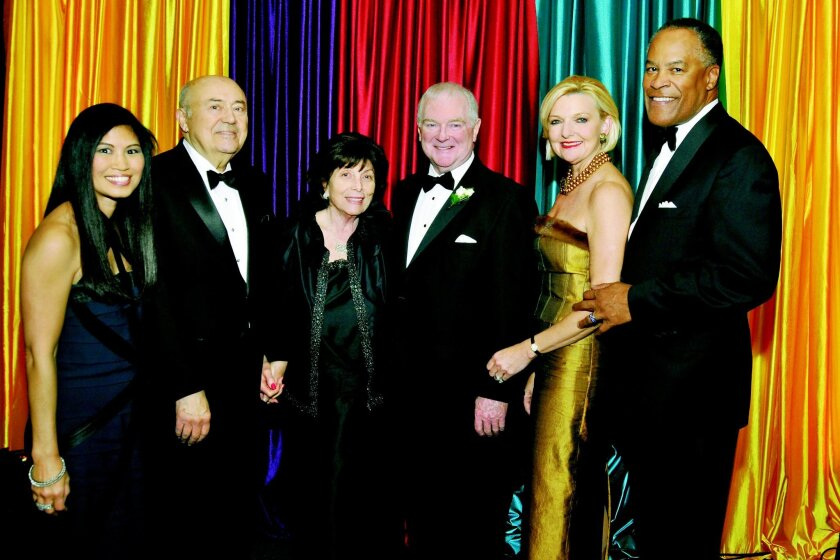 From left: Lori Walton, Andrew and Erna Viterbi (2014 and 2015 Season Production Sponsors), Ian Campbell (San Diego Opera general and artistic director and CEO), Joye Blount and Jessie Knight Jr.
