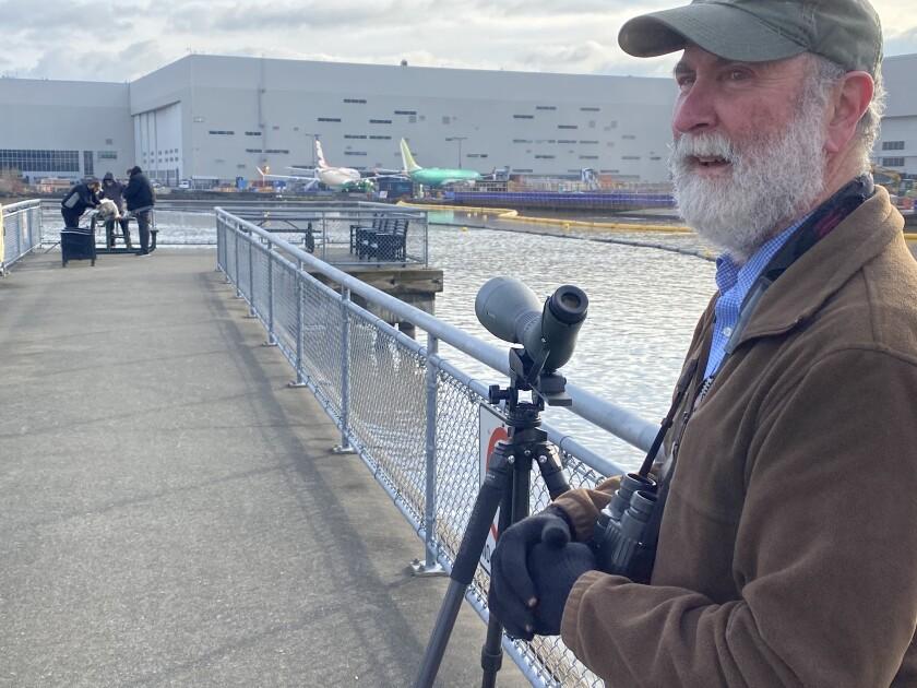 Ed Deal, president of Seattle's Urban Raptor Conservancy