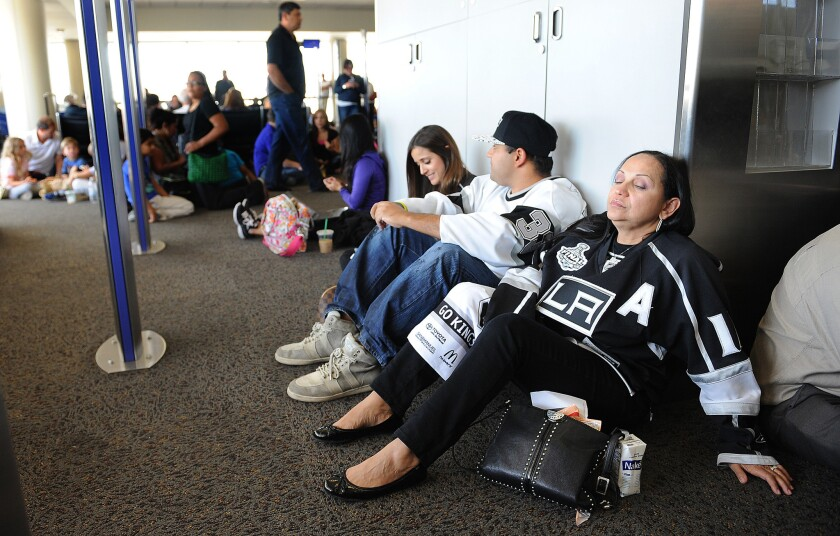 Travelers delayed at LAX