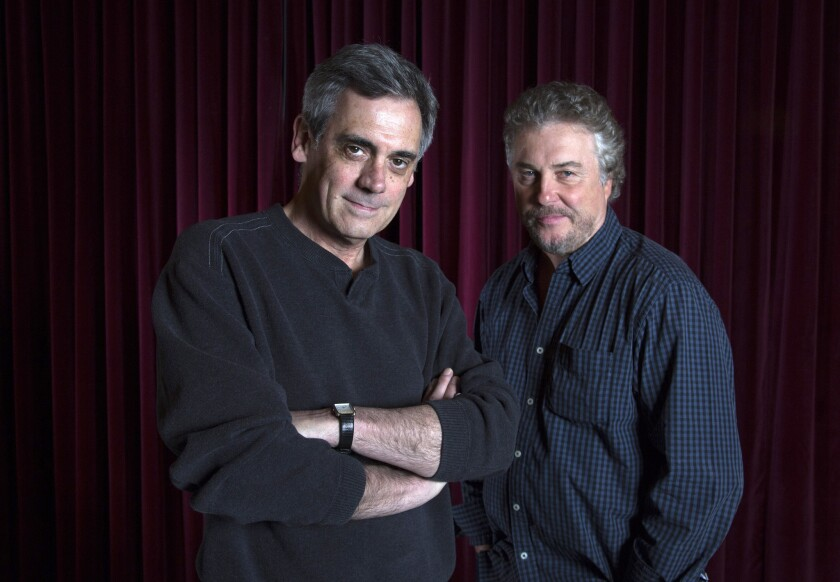 """Slowgirl"" director Randall Arney, left, and lead actor William Petersen are now working together in L.A. on the two-actor play by Greg Pierce."