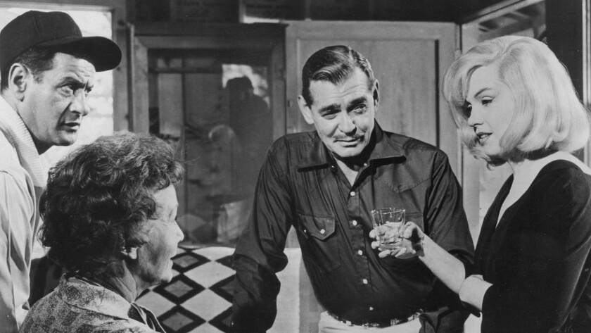"Eli Wallach, left, Thelma Ritter, Clark Gable and Marilyn Monroe in ""The Misfits."""