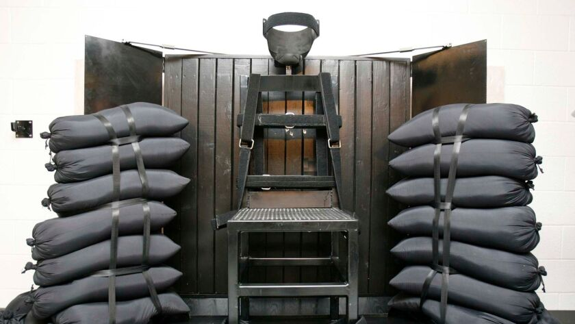 The firing squad execution chamber at the Utah State Prison, in Draper, Utah in June of 2010.
