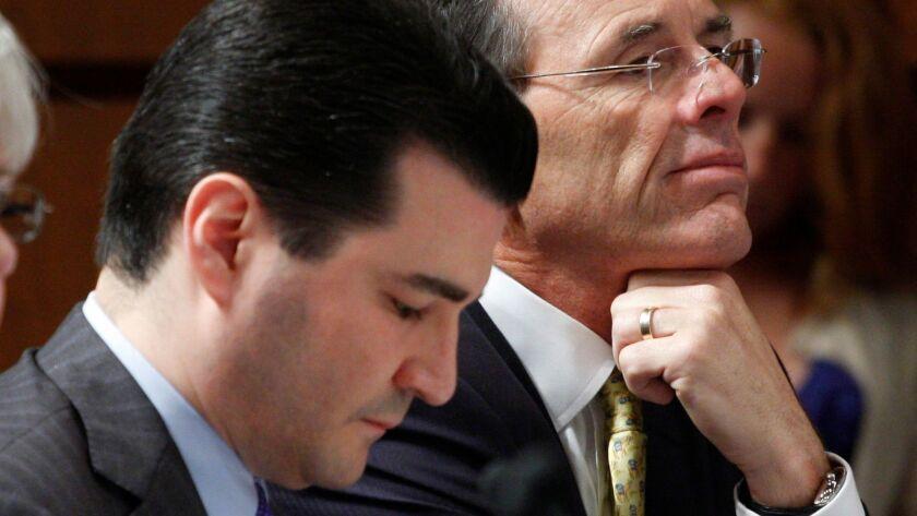 Scott Gottlieb, left, is seen on Capitol Hill in Washington in 2009.