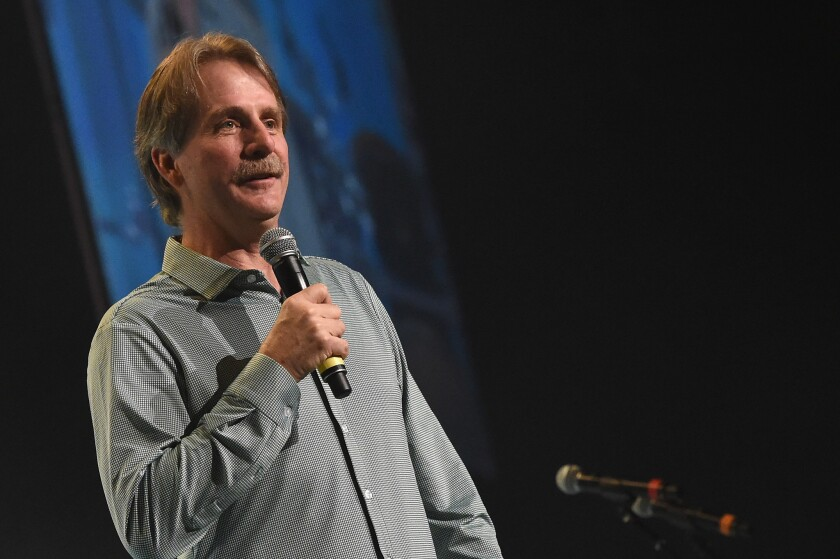 Jeff Foxworthy performs during 1 Night. 1 Place. 1 Time: A Heroes & Friends Tribute to Randy Travis at Bridgestone Arena on February 8, 2017 in Nashville, Tennessee. (Photo by Rick Diamond/Getty Images for Outback Concerts)