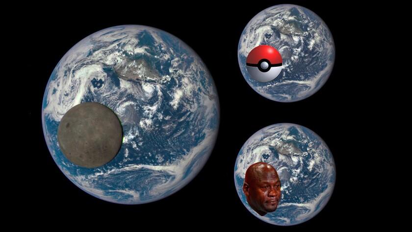 El astronauta Rich Mastracchio publicó en Twitter una impactante foto de la Luna frente al planeta Tierra, y aunque este empleado de la NASA asegura que la imagen es real, muchos en Internet no creyeron en sus palabras y comenzaron a crear memes con la fotografía.