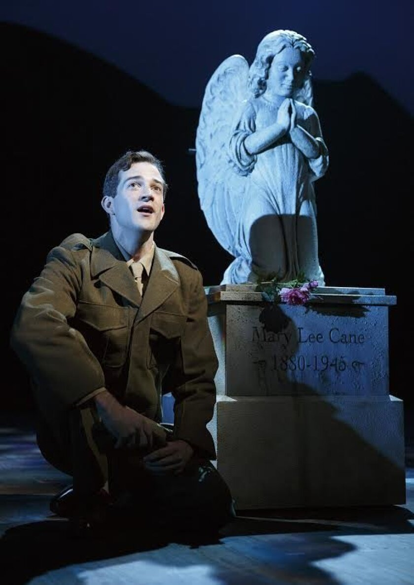 Billy Cane (A.J. Shively) opens up to his deceased mother in the world premiere of 'Bright Star,' with music by Steve Martin and Edie Brickell at The Old Globe Theatre through Nov. 2.