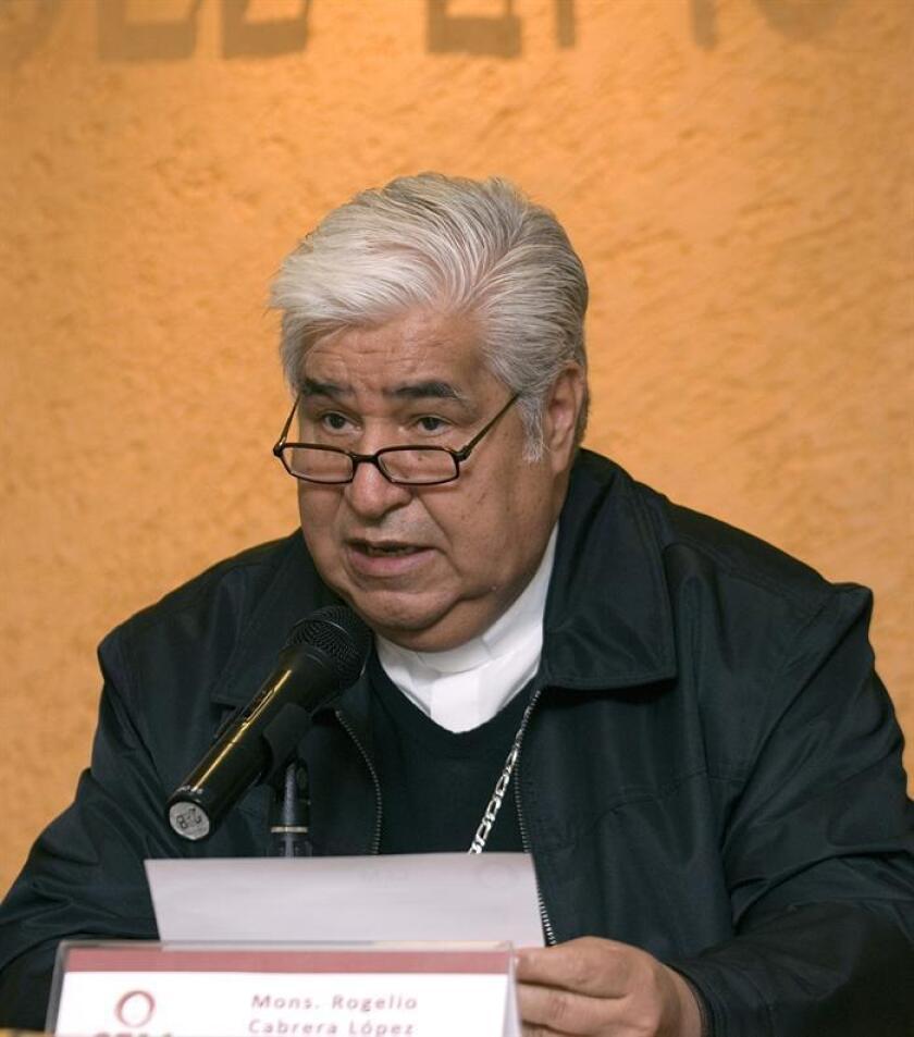 Fotografía de archivo del presidente de la Conferencia del Episcopado Mexicano (CEM), Rogelio Cabrera. EFE/Archivo