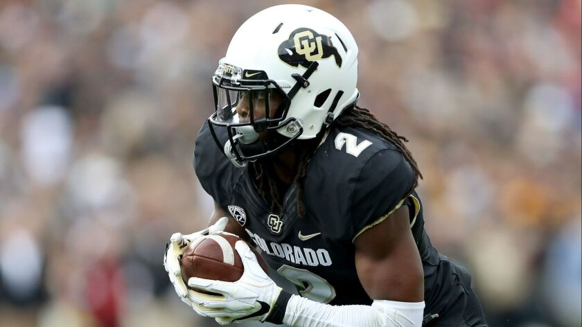 Laviska Shenault, Jr of the Colorado Buffaloes is a threat in the passing game that USC will attempt to nullify.