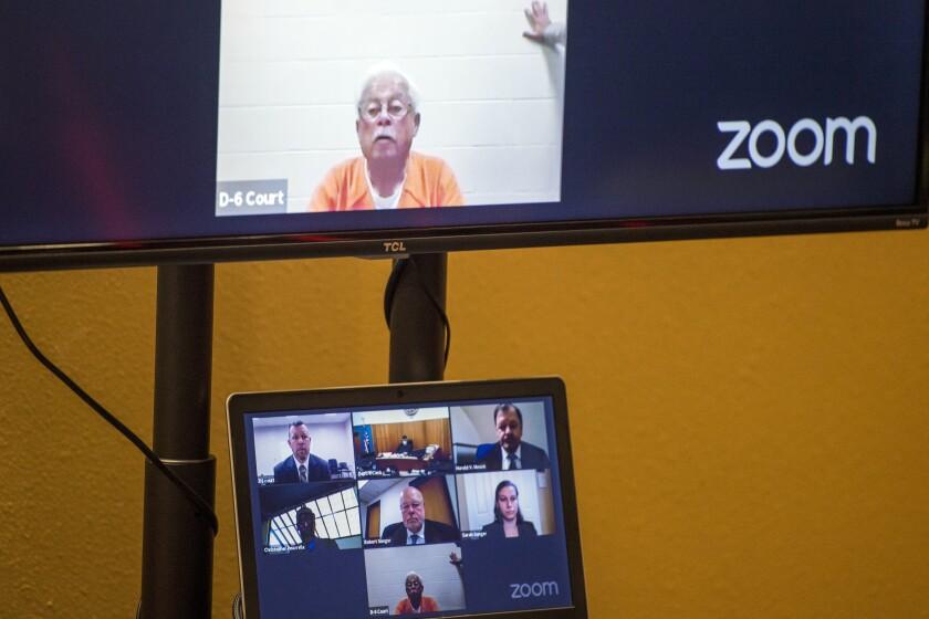 Court proceedings are held via videoconference in San Luis Obispo Superior Court.