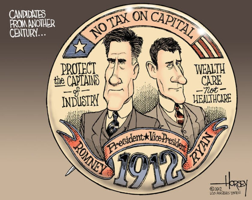 Republicans Mitt Romney and Paul D. Ryan should be running in 1912.