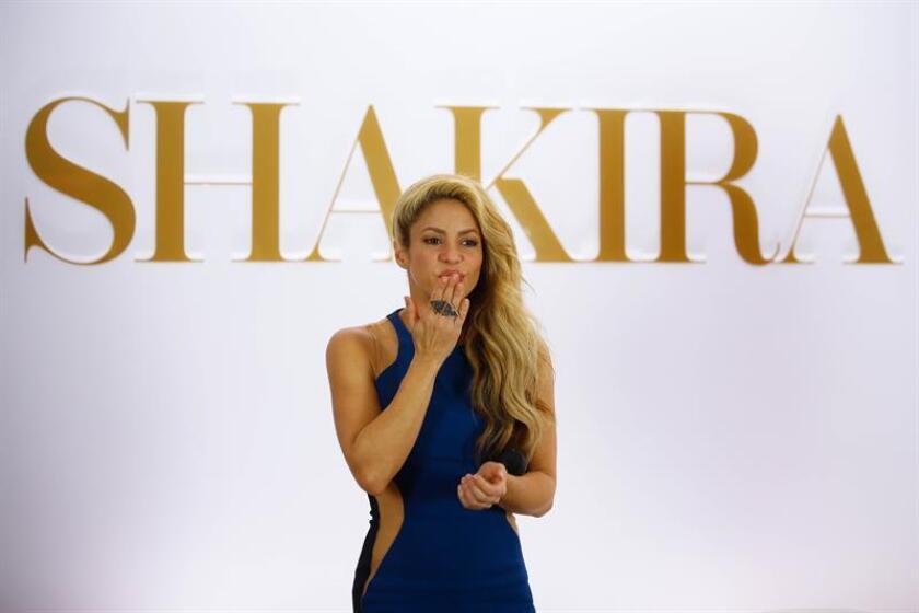 """La cantante colombiana Shakira, con """"El Dorado"""", ganó hoy el premio Grammy en la categoría de mejor álbum de música pop latina, en la que competía con intérpretes como Juanes o Natalia Lafourcade. EFE/ARCHIVO"""