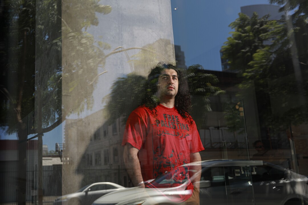 Ali-Reza Torabi stands in downtown San Diego